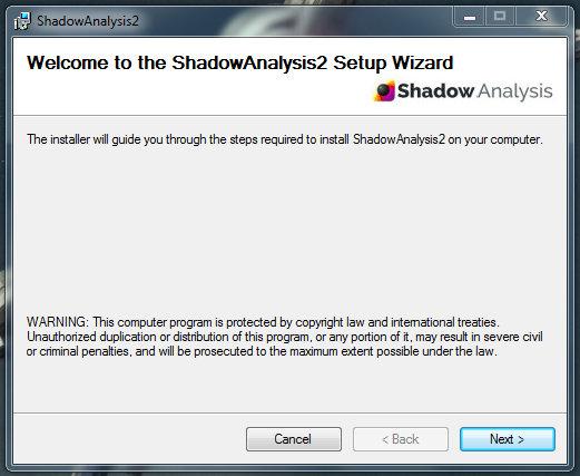 Shadow Analysis 2 installation proccess - part 1