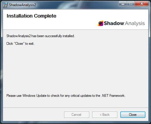 Shadow Analysis 2 installation proccess - part 3
